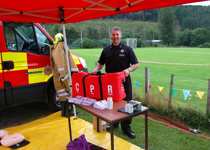 Photo of Retained Fireman at Strathglass Gala